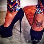 тату на ступне алмаз - фото пример готовой татуировки от 23.05.2016 4