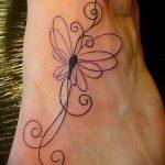 тату на ступне бабочка - фото пример готовой татуировки от 23.05.2016 1