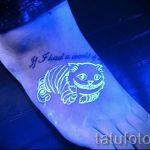 тату на ступне белой краской - фото пример готовой татуировки от 23.05.2016 2