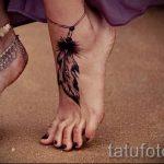 тату на ступне женские - фото пример готовой татуировки от 23.05.2016 10