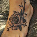 тату на ступне женские - фото пример готовой татуировки от 23.05.2016 11