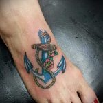 тату на ступне женские - фото пример готовой татуировки от 23.05.2016 12