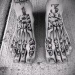 тату на ступне кости - фото пример готовой татуировки от 23.05.2016 1