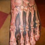 тату на ступне кости - фото пример готовой татуировки от 23.05.2016 3