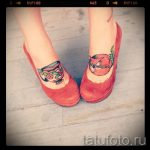 тату на ступне кошка - фото пример готовой татуировки от 23.05.2016 4
