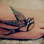 тату на ступне ласточка - фото пример готовой татуировки от 23.05.2016 4