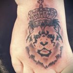 тату на ступне лев - фото пример готовой татуировки от 23.05.2016 1