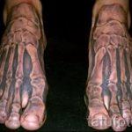 тату на ступне мужские - фото пример готовой татуировки от 23.05.2016 12