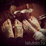 тату на ступне мужские - фото пример готовой татуировки от 23.05.2016 13