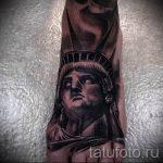 тату на ступне мужские - фото пример готовой татуировки от 23.05.2016 15