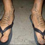 тату на ступне мужские - фото пример готовой татуировки от 23.05.2016 17