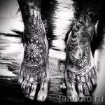 тату на ступне мужские - фото пример готовой татуировки от 23.05.2016 20
