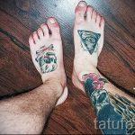 тату на ступне мужские - фото пример готовой татуировки от 23.05.2016 21