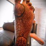 тату на ступне мужские - фото пример готовой татуировки от 23.05.2016 3