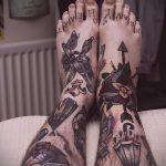 тату на ступне мужские - фото пример готовой татуировки от 23.05.2016 7