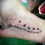 тату на ступне птицы - фото пример готовой татуировки от 23.05.2016 2