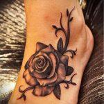 тату на ступне цветы - фото пример готовой татуировки от 23.05.2016 1