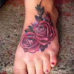 тату на ступне цветы - фото пример готовой татуировки от 23.05.2016 6