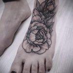 тату на ступне цветы - фото пример готовой татуировки от 23.05.2016 8