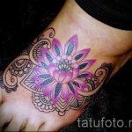 тату на ступне цветы - фото пример готовой татуировки от 23.05.2016 9