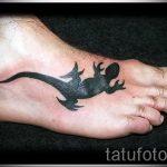 тату на ступне ящерица - фото пример готовой татуировки от 23.05.2016 3