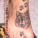 тату на ступнях волчьи лапы - фото пример готовой татуировки от 23.05.2016 2