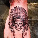 тату на ступнях череп - фото пример готовой татуировки от 23.05.2016 3