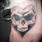 тату на ступнях череп - фото пример готовой татуировки от 23.05.2016 4