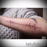 тату пульс мужские - пример готовой татуировки 4
