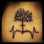 тату пульс на шее - пример готовой татуировки 1