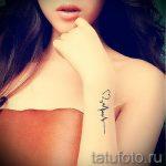 тату пульс с сердцем - пример готовой татуировки 12
