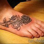 тату роза на ступне - фото пример готовой татуировки от 23.05.2016 17