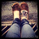 тату роза на ступне - фото пример готовой татуировки от 23.05.2016 4