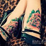 тату роза на ступне - фото пример готовой татуировки от 23.05.2016 6