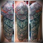 тату рукав доспехи - пример готовой татуировки от 16052016 7