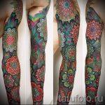 тату рукав мандала - фото пример готовой татуировки от 01052016 12