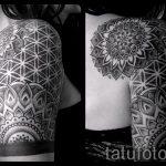 тату рукав мандала - фото пример готовой татуировки от 01052016 14