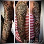 тату рукав мандала - фото пример готовой татуировки от 01052016 15