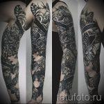 тату рукав мандала - фото пример готовой татуировки от 01052016 16