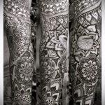 тату рукав мандала - фото пример готовой татуировки от 01052016 7
