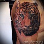 тату тигра на руке парня - фото пример 3