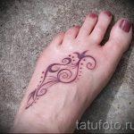 тату узоры на ступне - фото пример готовой татуировки от 23.05.2016 3