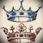 тату эскизы корона с перьями - рисунок для татуировки от 15052016 2