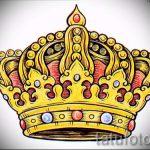 тату эскизы корона с перьями - рисунок для татуировки от 15052016 3