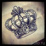 тату эскизы корона с перьями - рисунок для татуировки от 15052016 4