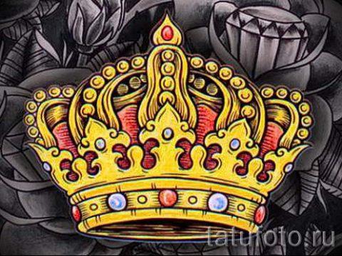 тату эскизы корона с перьями - рисунок для татуировки от 15052016 5