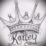 тату эскизы короны с именем - рисунок для татуировки от 15052016 1