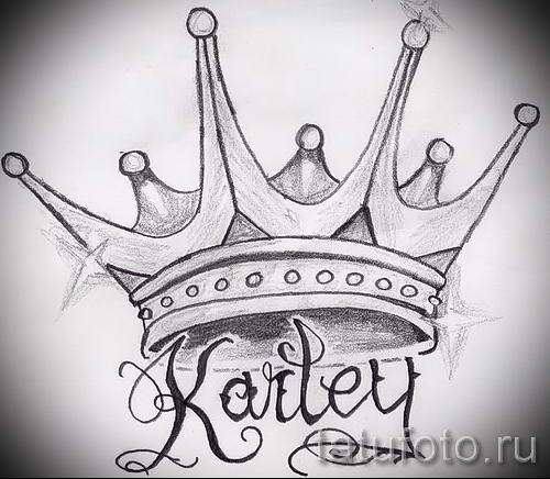 Simple crown tattoo design