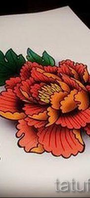 тату японский пион значение – фото пример татуировки от 15052016 1
