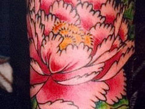 тату японский пион значение - фото пример татуировки от 15052016 2